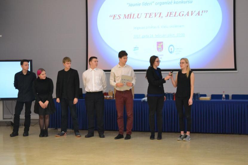 """Jauniešu atbalsta grupas """"Jaunie līderi"""" organizēts konkurss """"Es mīlu tevi, Jelgava!"""""""