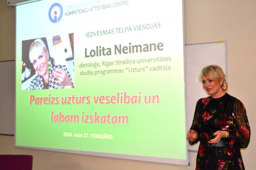 Iedvesmas telpā viesojas Lolita Neimane