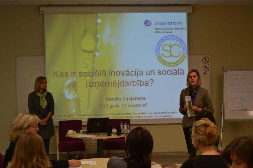 """Seminārs """"Sociālā inovācija un uzņēmējdarbība - cita karjeras iespēja"""""""