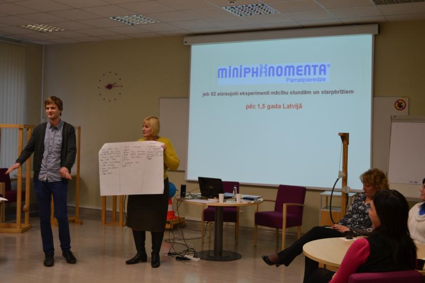 Miniphänomenta metodikas pieredzes seminārs