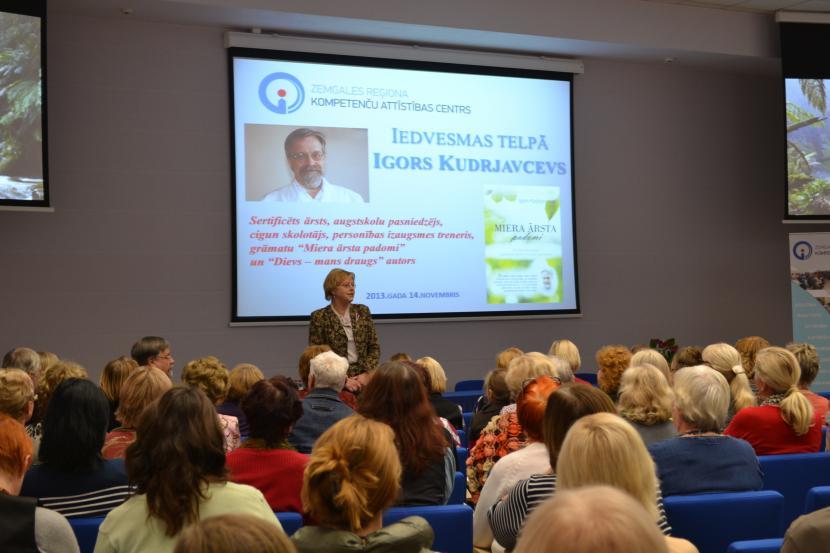 Iedvesmas telpā viesojas ārsts Igors Kudrjavcevs